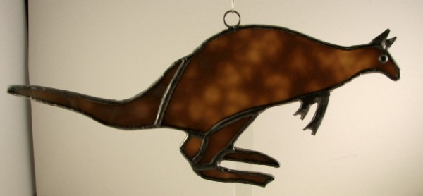 Kangaroo Suncatcher Ornament