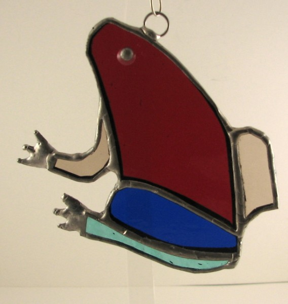 Leap Frog Suncatcher Ornament
